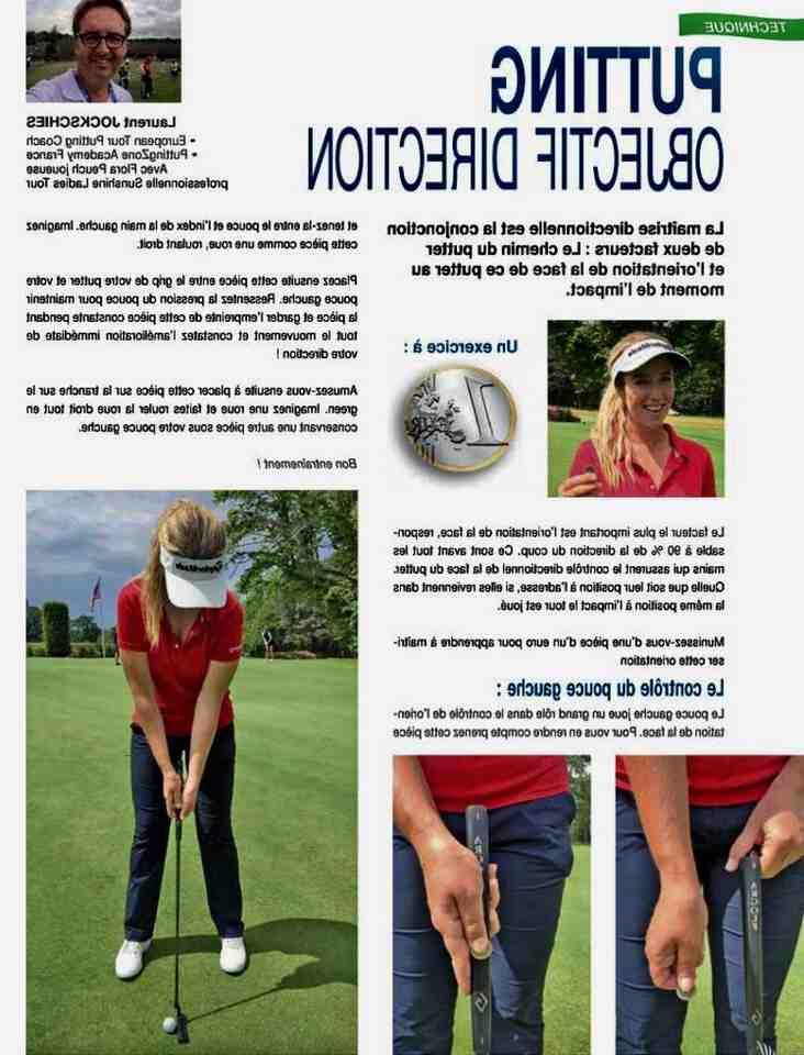 Comment putter droit au golf ?